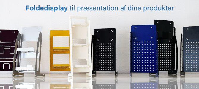 Foldedisplay til præsentation af dine produkter