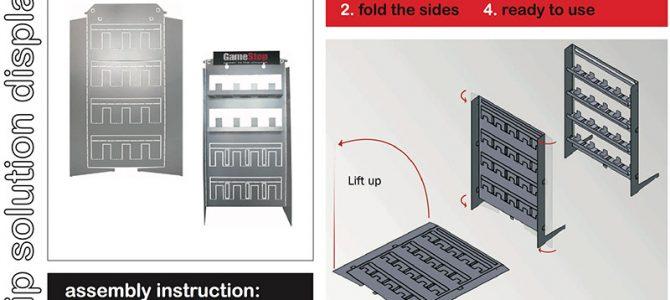 Flip solution display